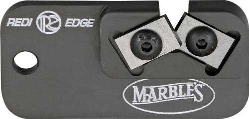 Marble Knives 81009 Redi-Edge Dog Tag Knife Sharpener with Black Anodized Aluminum Body
