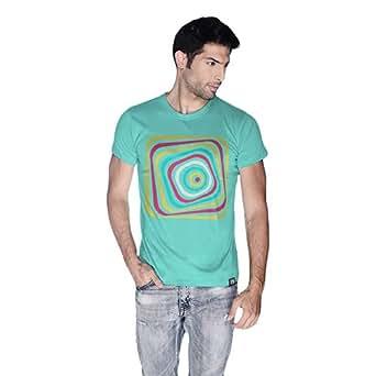 Creo Abstract 03 Retro T-Shirt For Men - Xl, Green
