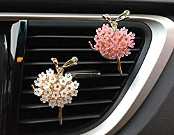 2-Pcs Crystal Dancing Girls Air Vent Clips