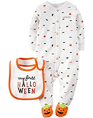 Unisex Baby Halloween Bodysuit with Bib (Baby)