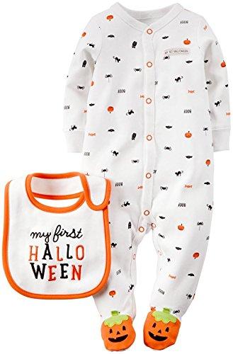 Carter's Unisex Baby Halloween Bodysuit with Bib (Baby) - First Halloween - Newborn