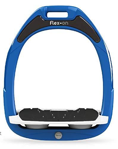 【Amazon.co.jp 限定】フレクソン(Flex-On) 鐙 ガンマセーフオン GAMME SAFE-ON Mixed ultra-grip フレームカラー: ブルー フットベッドカラー: ホワイト エラストマー: グレー 09365