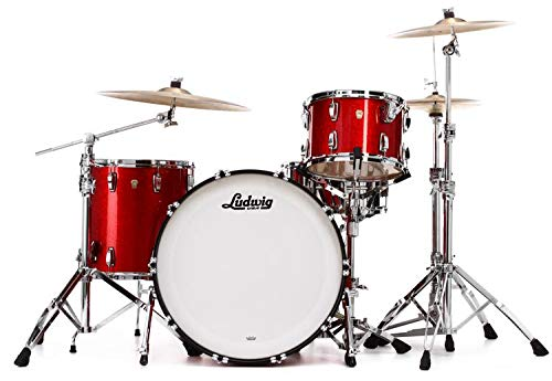Ludwig Classic Maple Pro Beat 24 Shell Pack - Red Sparkle (Ludwig Maple Classic Drum)