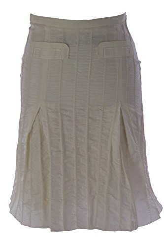 Emporio Armani Women's Pleated A-Line Skirt IT 38 Cream