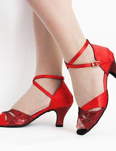 Chaussures de Danse pour Femme en Satin Latinoamericano