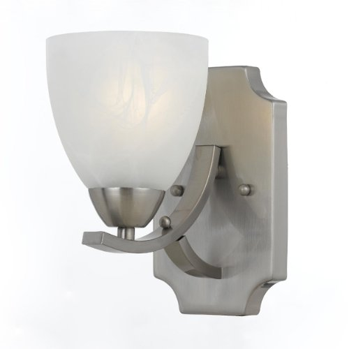(Triarch 33290/1 Value Wall Lamp, Satin Nickel)