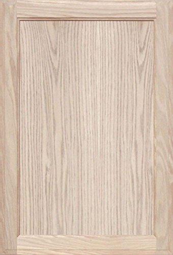 High Unfinished Oak Kitchen - Unfinished Oak Square Flat Panel Cabinet Door by Kendor, 28H x 19W