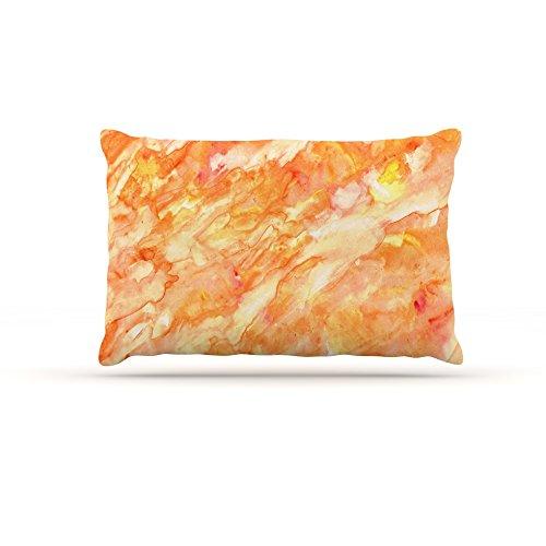 Kess InHouse Rosie Brown Autumn  Fleece Dog Bed, 50 by 60 , orange Paint
