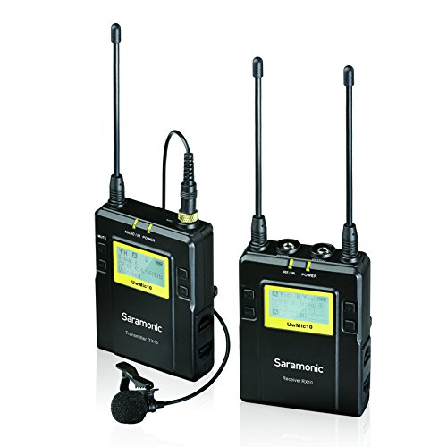 Saramonic TX10 + RX10 96-Channel Digital UHF Wireless Lavalier Microphone System with Bodypack Transmitter, Portable Receiver and 3.5mm/XLR (Wireless Mic Bodypack Transmitter)