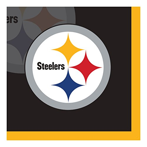 Creative Converting Officially Licensed NFL Paper Bowls, 8-Count, 20-Ounce, Pittsburgh Steelers