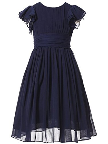 Happy Rose Flower Girl's Dress Prom Party Dresses Bridesmaid Dress Navy 8 -
