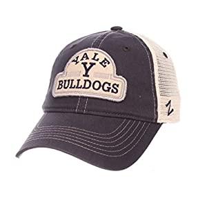 Zephyr Yale Bulldogs Official NCAA Route Adjustable Hat Cap by 603604 by Zephyr