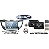 Concept FFMS-10B 10.1 Panel w/Bottom Controls GPS Navigation & Pair of CLS703 7 Headrest Monitors w/ 3 color covers & a FREE SOTS Air Freshener Included