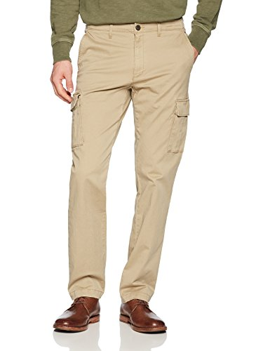 Goodthreads Men's Straight-Fit Vintage Cargo Pant, New British Khaki, 40W x 32L ()