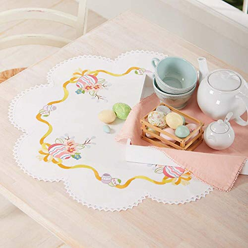 Herrschners Home Easter Wreath Table Topper Stamped Embroidery Kit ()