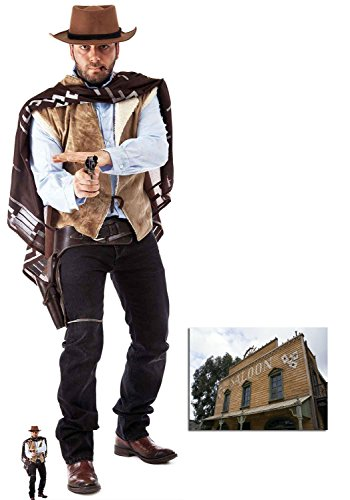 Fan Pack - Wild West Cowboy Cardboard Cutout Lifesize and Mini Cardboard Cutout / Standup - Includes 8x10 Star -