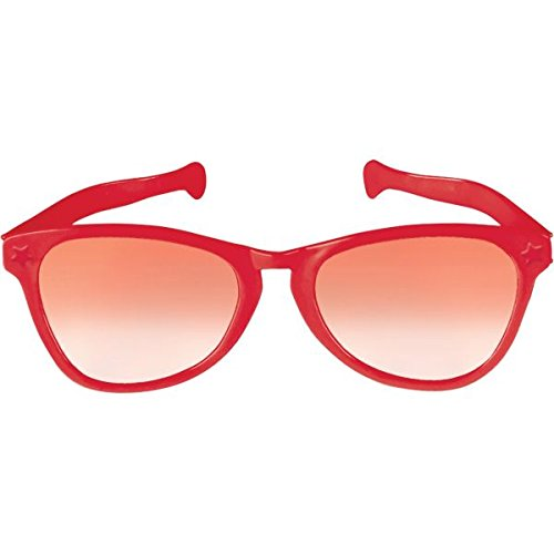 Red Jumbo Eyeglasses, Party Accessory