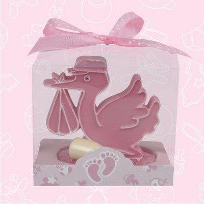UPC 818658010148, Delivery Stork - Baby Shower Favor Pink 12 pcs