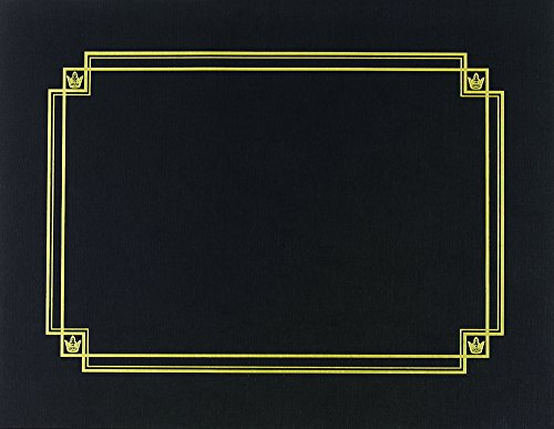 Great Papers! Black Linen Certificate Cover, 12''x 9.375'', 3 Count (938603) by Great Papers!