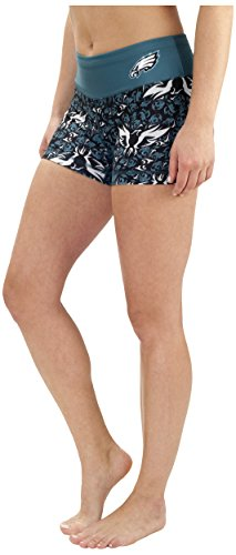 NFL Philadelphia Eagles Thematic Print Bootie Short, Green, Small