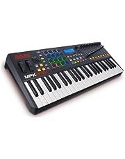 AKAI Professional MPK249 - Controlador MIDI USB con teclado de 49 teclas semi-contrapesadas, controles MPC asignables, 16 Pads, Q-links, Software Pack
