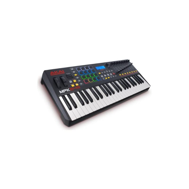Akai Professional MPK249 | 49-Key USB MIDI Keyboard & Drum Pad Controller  with LCD Screen (16 Pads / 8 Knobs / 8 Faders), VIP Software Download
