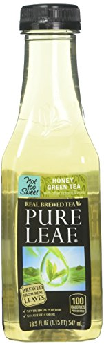 Pure Leaf Iced Tea, Not Too Sweet, Real Brewed Honey Green Tea, 0 Calories, 18.5 Ounce (Pack of 12)