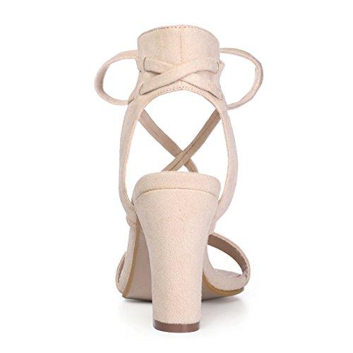Aperta Sandalo Punta con Donne Cravatta K Allegra Caviglia 9 Tacco Beige US UYqwtnx