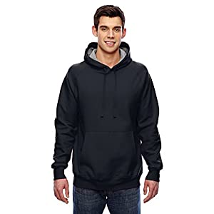 Hanes Mens Nano Premium Lightweight Pullover Hoodie, Black, Small