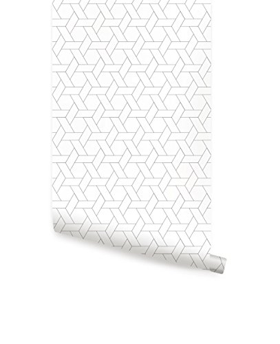 (Hexagon Basket Weave Pattern Wallpaper - Peel and Stick - by Simple Shapes (single sheet 2ft x 9ft))