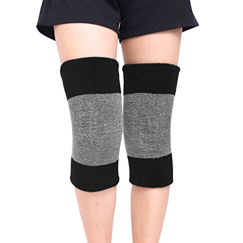 Winter Soft Thermal Knee Braces Leg Warmers Cozy Warm Skiing Cycling Camping Runing Arthritis Tendonitis Knee Pads Leg Sleeves Support Protector for Men ()