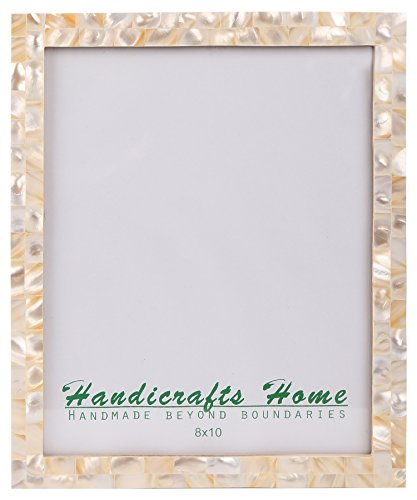 Handicrafts Home 8x10 Picture Frames Chic Photo Frame Mother of Pearl Handmade Vintage from (8x10, ()
