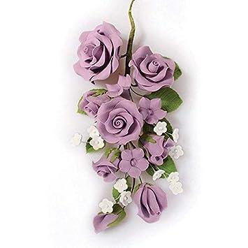 Grande Fleur Lilas Rose Sucre Pour Gâteau De Mariage