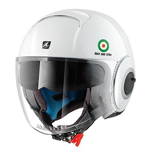 Nano Strike de tiburón casco de diseño con cara al descubierto personalizado de punto de cruz