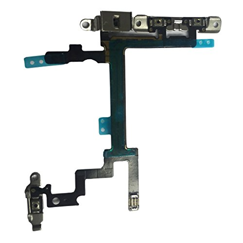Sunwing Original Iphone 5-Volume Control Mute Power ON/OFF Switch Button Connector Flex Cable-Black