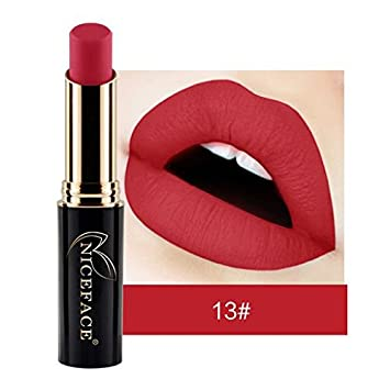 Expxon Matte Nude Lipstick Set, 12 Colors Waterproof Long Lasting Lip Gloss Non-Stick Cup Liquid Lipstick