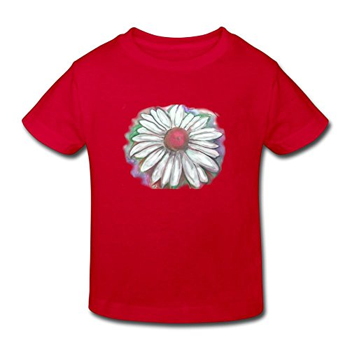 Hanfj Kfk Daisy Watercolor Painting T-Shirt Girl Cool Birthday Day Gift 2-6T
