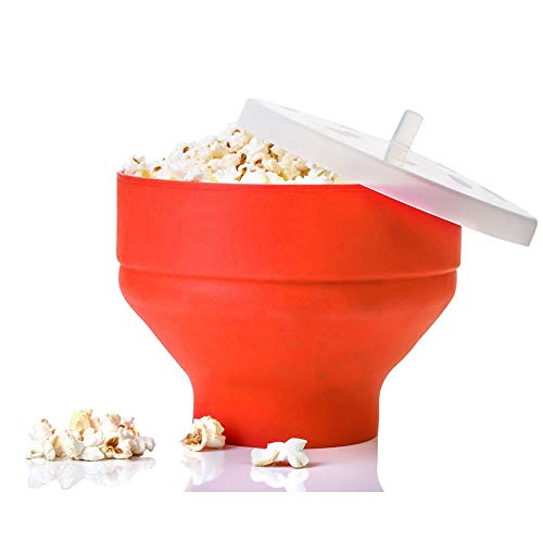 Popcorn Silicone Bowl, PoPuP Microwave Collapsible High Temperature Resistance Hot Air Popcorn Popper Bowl ()