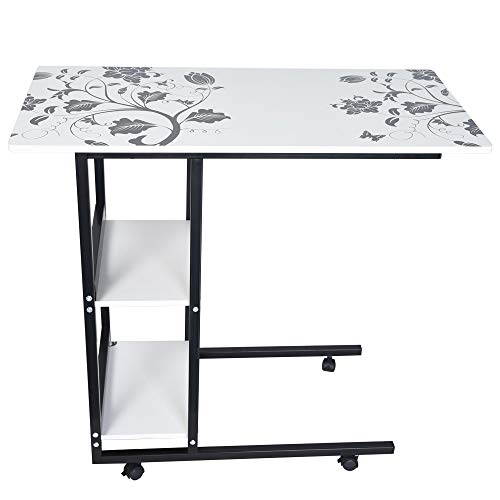Ydida Laptop Table Household Lifted and Folded Folding Multi-Function Laptop Desk Foldable Small Desk Modern Economic Simple Home Table Simple Folding Lazy Table (Stand Folding Workbench)