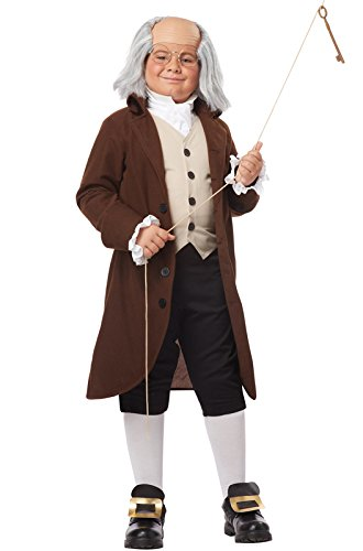 California Costumes Colonial Man/Benjamin Franklin Child Cos