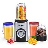 Batidora de Vaso de 350 W con 4 Tazas, Licuadora Para Verduras y Frutas Blender Smoothie, 2 Velocidades, 23000 RPM…