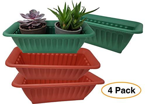 (Terracotta Style Window | Garden Box Planter Pot 14.5