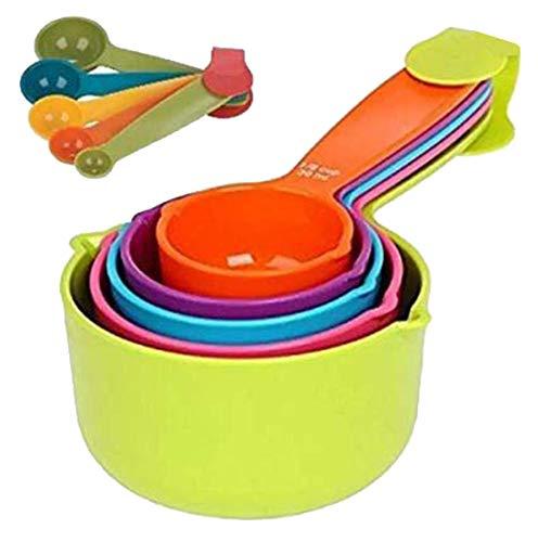Regalo 10Pcs Plastic Measuring Cup and Spoon Set,Multicolour