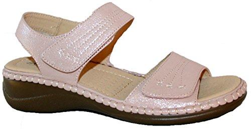 der Annabelle Sommersandale von Schlaufen Plus in mit Pink Glitter Damen Nähe Passform Bequeme von 44TrzPqW