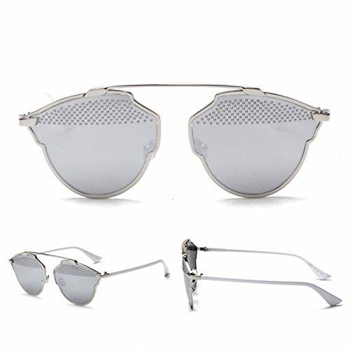 a1c912ace0 Ojo de Gato Gafas de Sol Rihanna Personalidad Medio-Marco Retro Unisex  Gafas de Sol