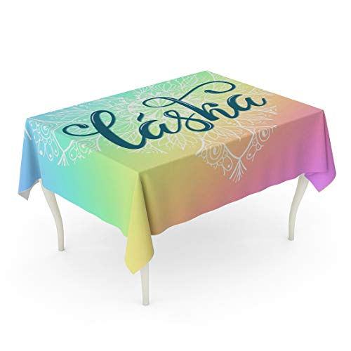 - Tarolo Rectangle Tablecloth 60 x 102 Inch Colorful Brush Laska Lettering Translate from Czech Love Phrase for Valentine Day Calendar Language Table Cloth