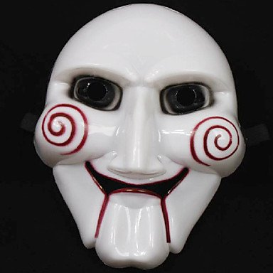 [Tint Fabulous The Saw Figure Clown Mask Scary Gadgets for Halloween Costume Party] (Saw Makeup And Costume)