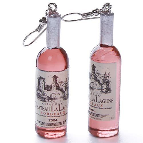 UINKE Creative Wine Bottle Pendant Dangle Hook Earrings Wine Lovers Gift,Coffee
