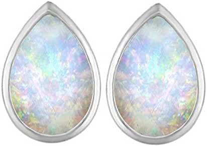Star K Sterling Silver 9x6mm Pear Shape Earrings Studs