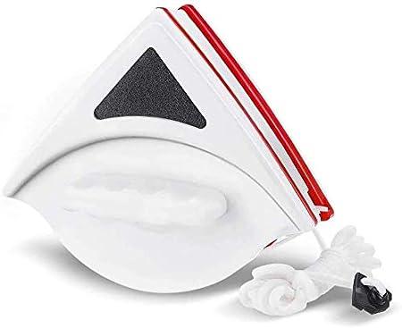 Charminer Limpiacristales Magnético para Ventanas de Vidrio Simple con un Grosor de 15-24 mm,Limpiador de ventanas magnetico, Cepillo de limpieza doble cara con Cuerda Anti-caída